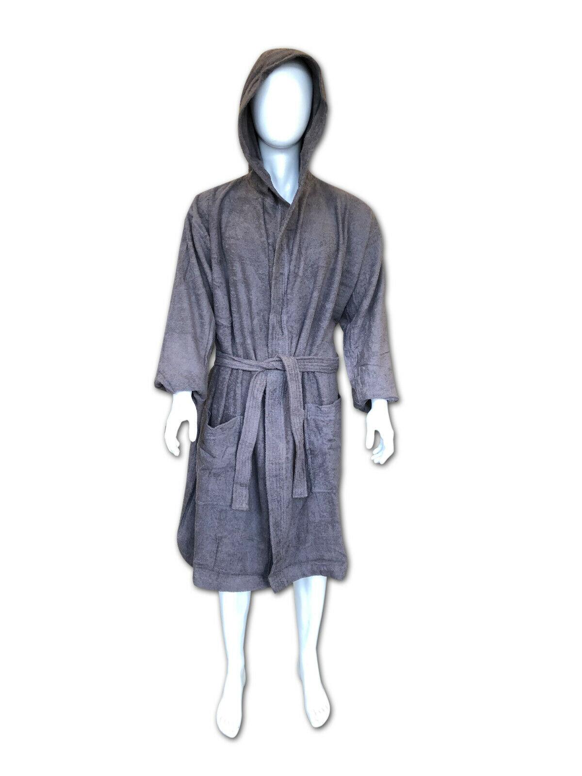 100/% LUXURY EGYPTIAN COTTON HOODED BATH ROBE DRESSING TERRY TOWELING MEN /& WOMEN